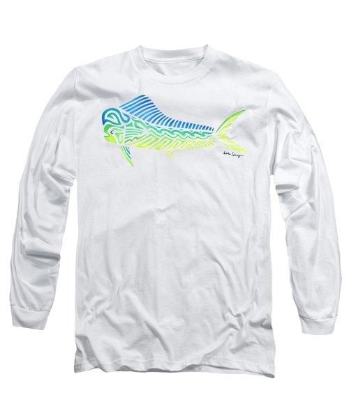 Tribal Mahi Mahi Long Sleeve T-Shirt