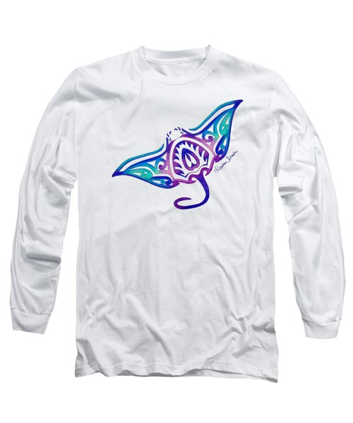 Tribal Manta Ray Long Sleeve T-Shirt