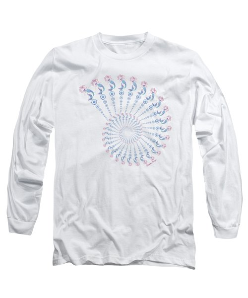 Tribal Mermaid Spiral Shell Long Sleeve T-Shirt