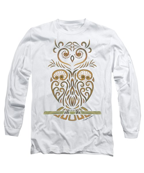Tribal Owl Long Sleeve T-Shirt