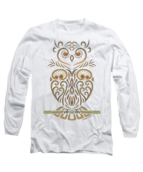 Tribal Owl Long Sleeve T-Shirt