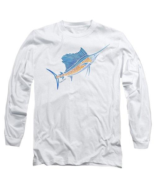 Tribal Sailfish Long Sleeve T-Shirt