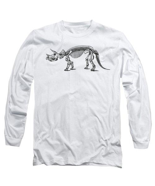Triceratops Dinosaur Tee Long Sleeve T-Shirt