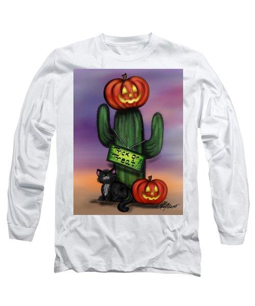 Trick Or Treat Cactus Long Sleeve T-Shirt