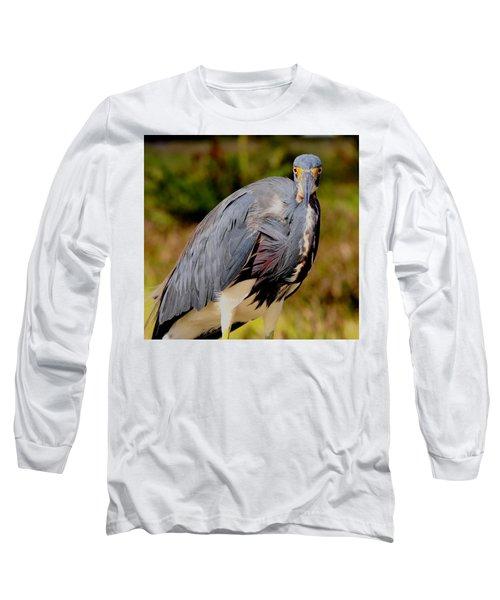 Tricolor Heron Long Sleeve T-Shirt