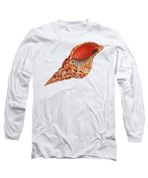 Triton Shell On White Long Sleeve T-Shirt