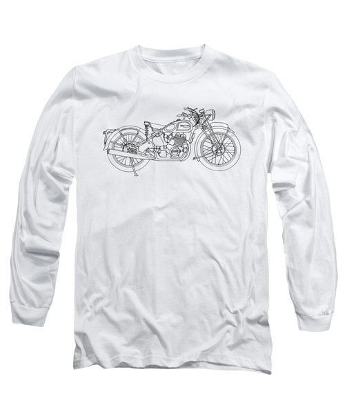 Triumph Laverda Long Sleeve T-Shirt by Stephen Brooks