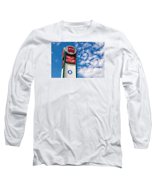Trolley Stop Long Sleeve T-Shirt by Bob Pardue