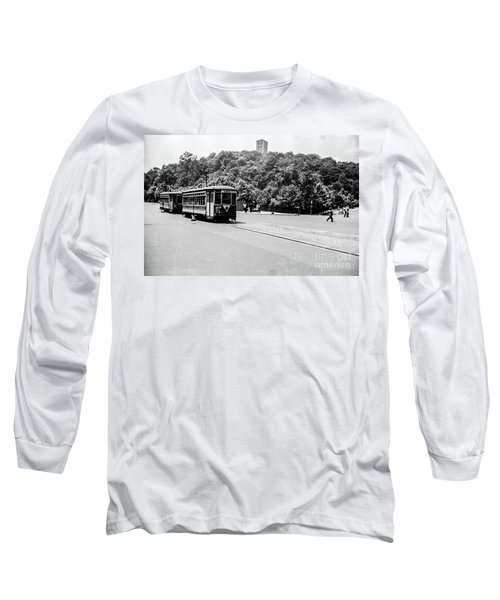 Long Sleeve T-Shirt featuring the photograph Trolley With Cloisters by Cole Thompson