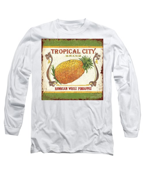 Tropical City Pineapple Long Sleeve T-Shirt