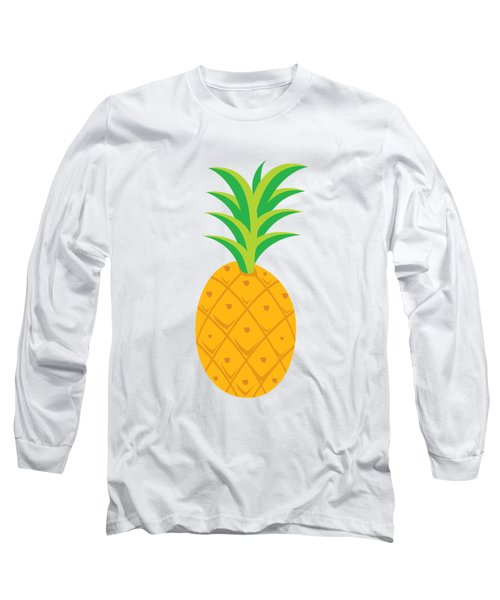 Tropical Fruits Ananas Pineapple Long Sleeve T-Shirt by MGdezigns