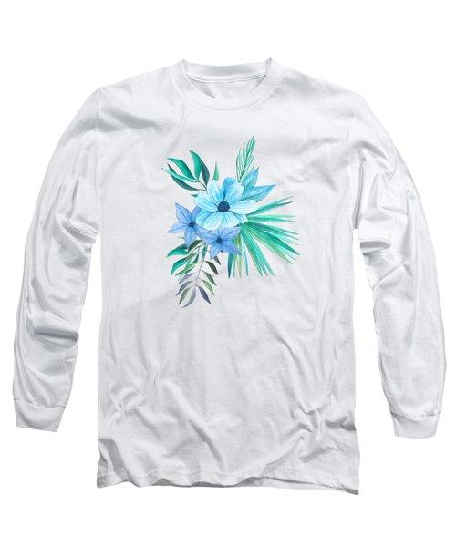 Tropical Watercolor Bouquet 10 Long Sleeve T-Shirt