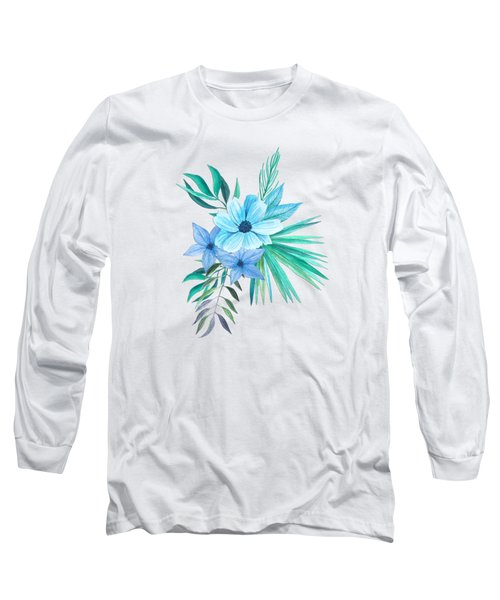 Tropical Watercolor Bouquet 10 Long Sleeve T-Shirt