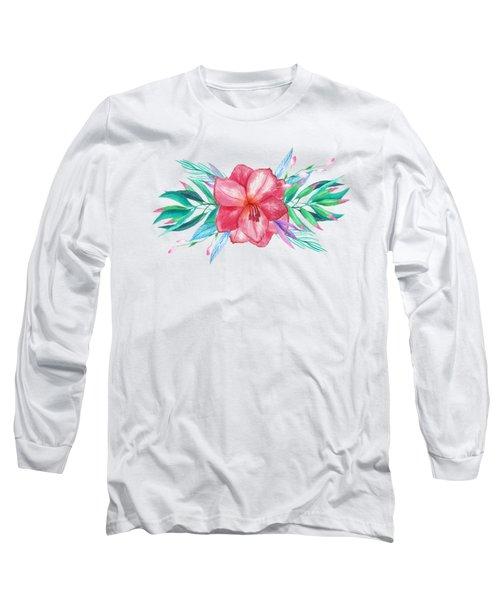 Tropical Watercolor Bouquet 5 Long Sleeve T-Shirt