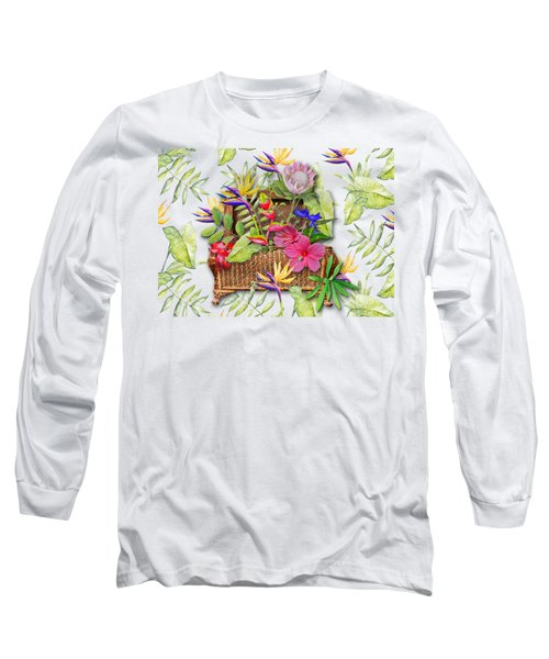 Tropicals In A Basket Long Sleeve T-Shirt by Larry Bishop