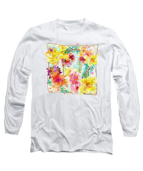 Long Sleeve T-Shirt featuring the digital art Tropicana Abstract By Kaye Menner by Kaye Menner
