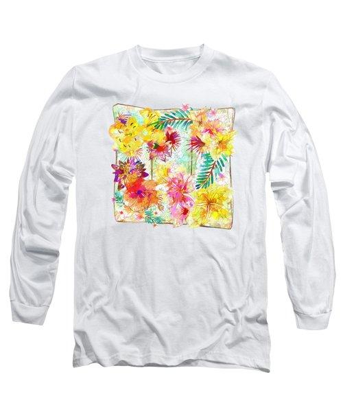 Tropicana Abstract By Kaye Menner Long Sleeve T-Shirt by Kaye Menner