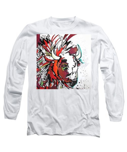 Long Sleeve T-Shirt featuring the painting Trouble by Nicole Gaitan