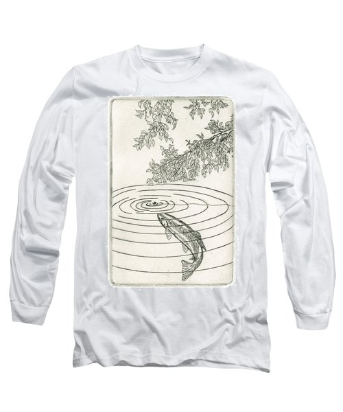 Trout Rising To Dry Fly Long Sleeve T-Shirt by Charles Harden
