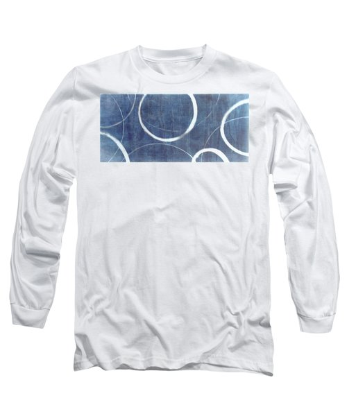 Long Sleeve T-Shirt featuring the painting True Blue Ensos by Julie Niemela