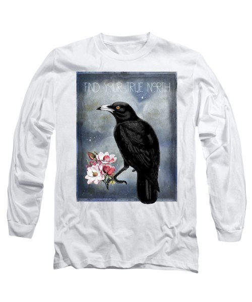 True North Crow And Magnolias Long Sleeve T-Shirt