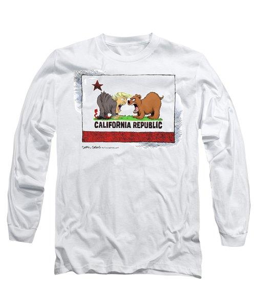 Trump And California Face Off Long Sleeve T-Shirt