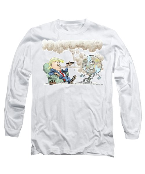 Trump And The World On Climate Long Sleeve T-Shirt