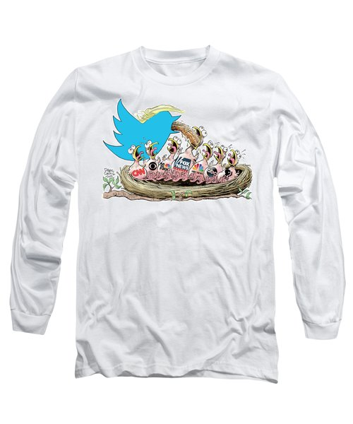 Trump Twitter And Tv News Long Sleeve T-Shirt