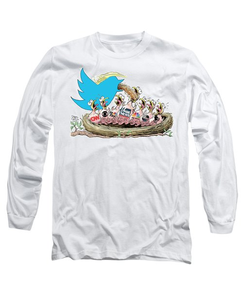 Trump Twitter And Tv News Long Sleeve T-Shirt
