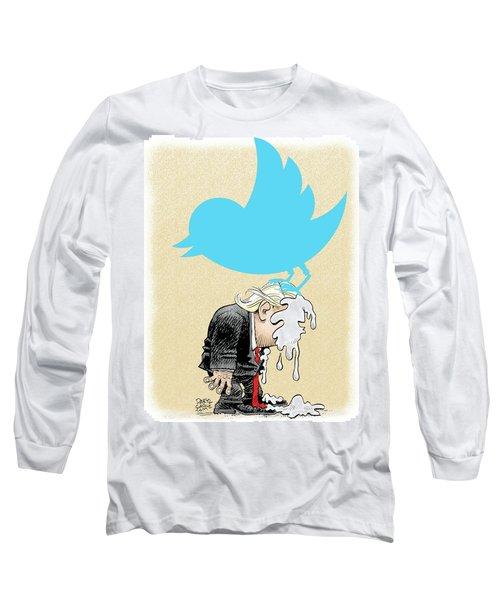 Trump Twitter Poop Long Sleeve T-Shirt
