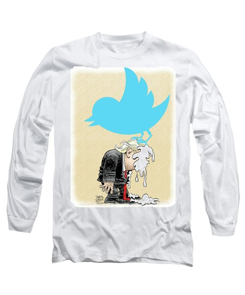 Trump Twitter Poop Long Sleeve T-Shirt