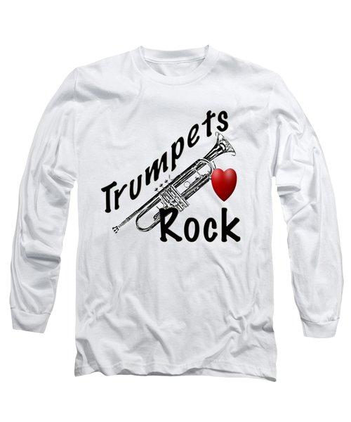 Trumpets Rock Long Sleeve T-Shirt by M K  Miller