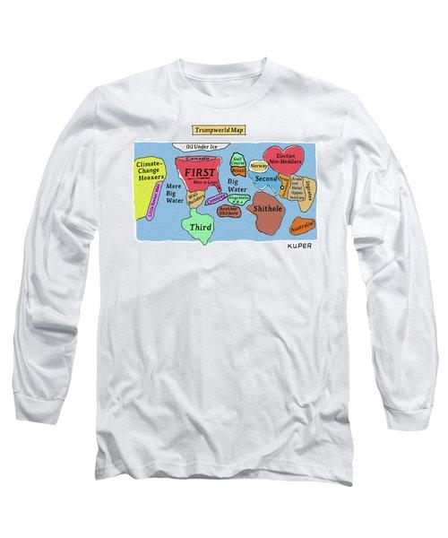 Trumpworld Map Long Sleeve T-Shirt