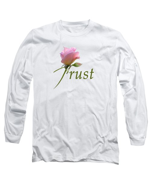Long Sleeve T-Shirt featuring the digital art Trust by Ann Lauwers