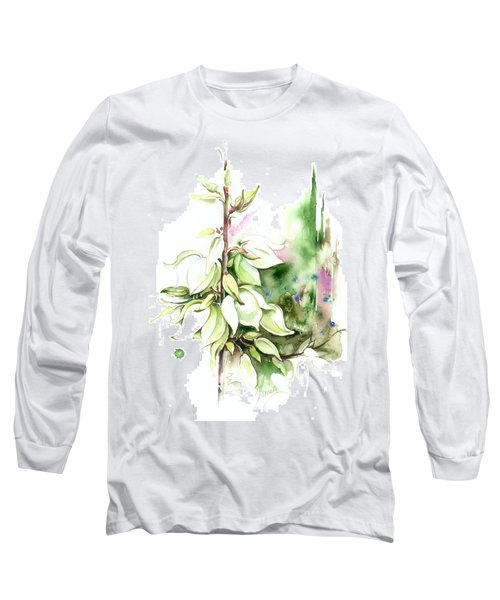 Long Sleeve T-Shirt featuring the painting Trying On Wedding Dress by Anna Ewa Miarczynska