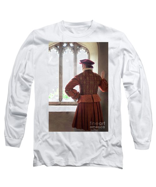 Tudor Man At The Window Long Sleeve T-Shirt by Lee Avison