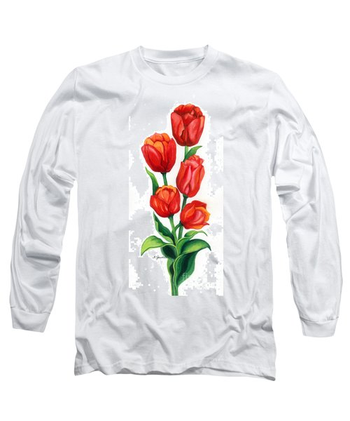 Tulip Time Long Sleeve T-Shirt by Barbara Jewell