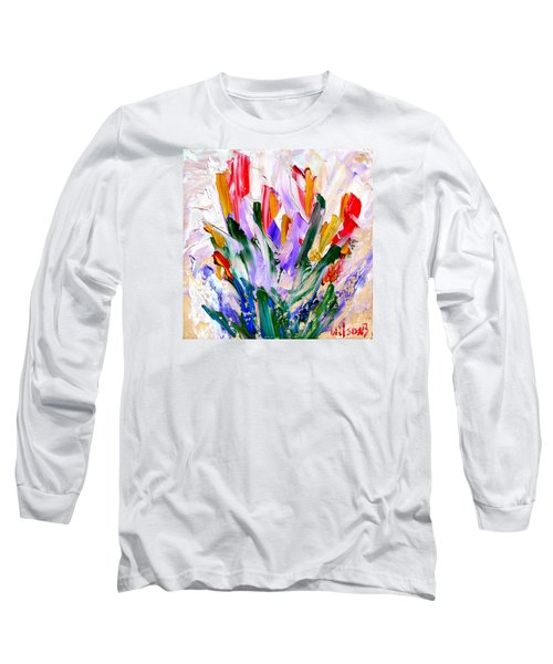 Tulips Long Sleeve T-Shirt by Fred Wilson