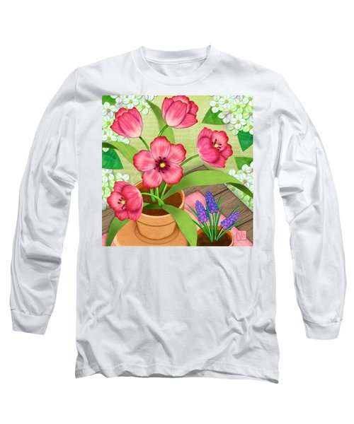 Tulips On A Spring Day Long Sleeve T-Shirt