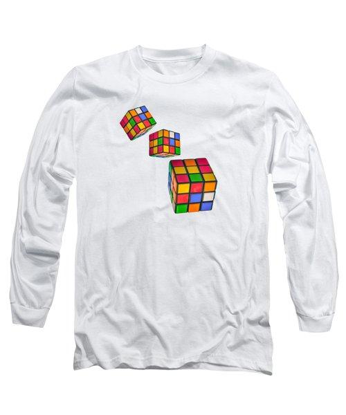 Tumbling Cubes Long Sleeve T-Shirt