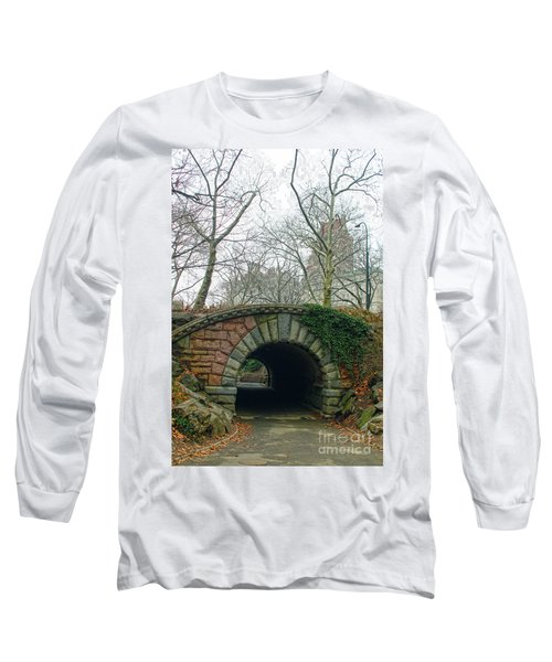 Tunnel On Pathway Long Sleeve T-Shirt by Sandy Moulder