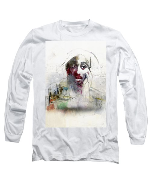 Tupac Graffitti 2656 Long Sleeve T-Shirt by Jani Heinonen