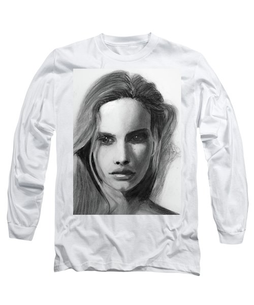 Long Sleeve T-Shirt featuring the drawing Turn Of A Friendly Card by Jarko Aka Lui Grande