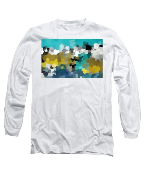 Turquoise And Gold Long Sleeve T-Shirt