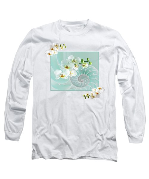 Turquoise Fusion Long Sleeve T-Shirt by Gill Billington