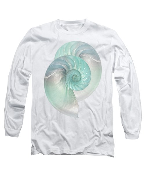 Turquoise Nautilus Pair Long Sleeve T-Shirt