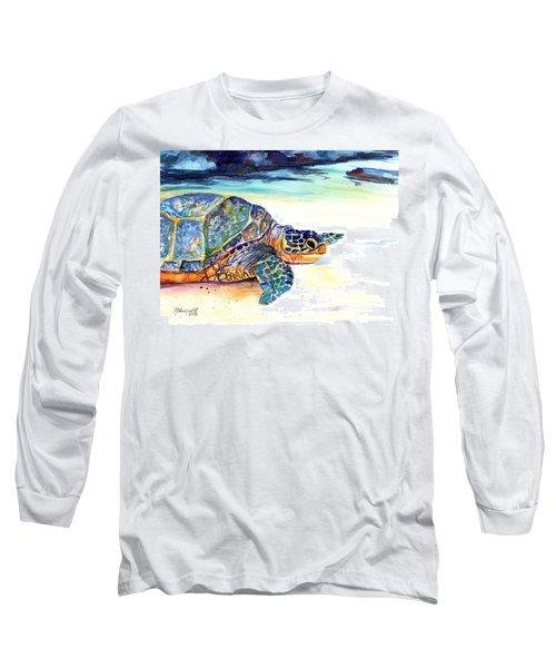 Turtle At Poipu Beach 2 Long Sleeve T-Shirt