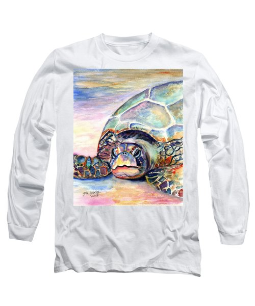 Turtle At Poipu Beach Long Sleeve T-Shirt