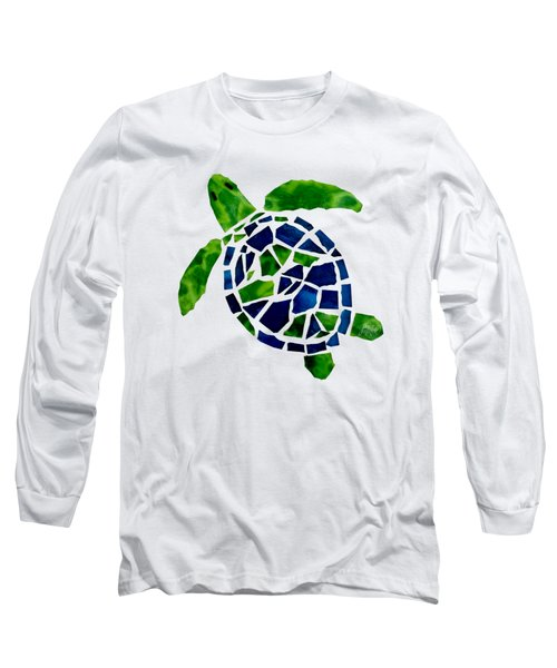 Turtle Mosaic Cut Out Long Sleeve T-Shirt