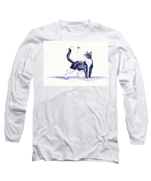 Tuxedo Cat And Bumble Bee Long Sleeve T-Shirt